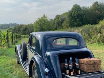 18th August English Sparkling Wine and Pre war Cars at the vineyard - Busi Jacobsohn